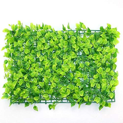 Preisvergleich Produktbild Blumenwand LVZAIXI Beste Künstliche Hecke Gefälschte Grünpflanze Privacy Hedging Hausgarten Outdoor Wanddekoration Kunststoff Gartenterrasse Terrasse Bildschirm Grün Matte (Color : D,  Size : 40x60cm)