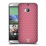 Head Case Designs Pink Punkte Französische Land Muster Ruckseite Hülle für HTC One M8 / M8 Dual Sim