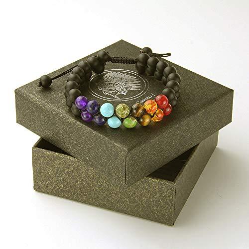 Zoom IMG-1 7 cristalli chakra pietre bracciale
