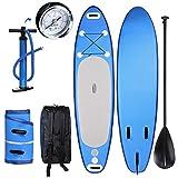 Profun Stand Up Paddle Board 10 ' SUP Gonflable Planche Paddle (6' 'épaisseur) Paquet Board iSUP + Palette Réglable + Pompe + Sac à Dos