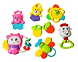 #8: DS Baby Rattles & Soother set of 8 pieces