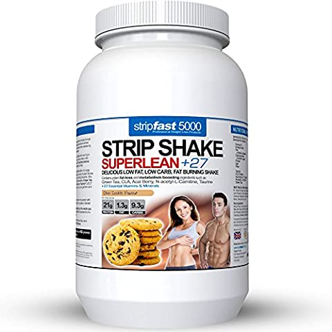Diet Whey Protein Powder Shakes Weight Loss Support For Men & Women With DIET PLAN & RECIPE BOOK (Choc Cookie,