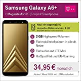 Samsung A6 Plus mit 32 GB internem Speicher mit Telekom Magenta S Eco inkl. Telefon-und SMS Flat in Alle dt. Netze, 2GB Datenvolumen mit bis zu 300 Mbit/s, 24 Monate Laufzeit mtl.