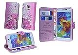 Sony Xperia Z2 Book-Style Handyhülle Schale Schutzhülle Tasche Zubehör mit Strass Steinen MOTIV 1
