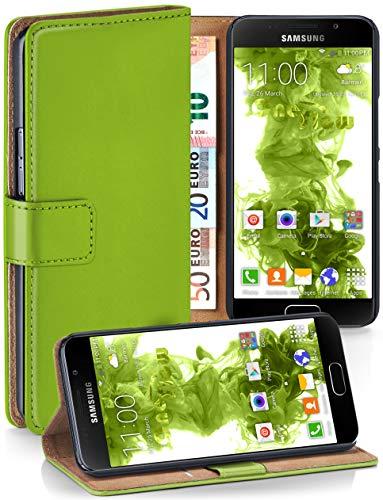 moex® Booklet mit Flip Funktion [360 Grad Voll-Schutz] für Samsung Galaxy A3 (2016) | Geldfach und Kartenfach + Stand-Funktion und Magnet-Verschluss, Grün