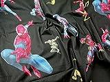 Spiderman Print Baumwolle Marvel Comics Stoff, Meterware,