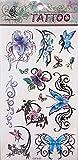 1 Stück Tattoo Aufkleber (entfernbar), Tattoo Sticker (Schmetterling Tribal)