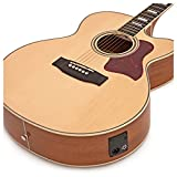 Guitare acoustique Jumbo Electro par Gear4music naturel