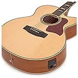 Guitare acoustique Jumbo Electro par Gear4music naturel