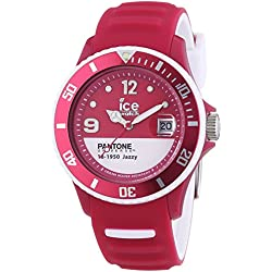 Ice-Watch Pantone Universe-Pan. BC. JAZ. U.S.13-Jazzy-Unisex Watch-Analogue Quartz-Pink Dial Pink Silicone Strap