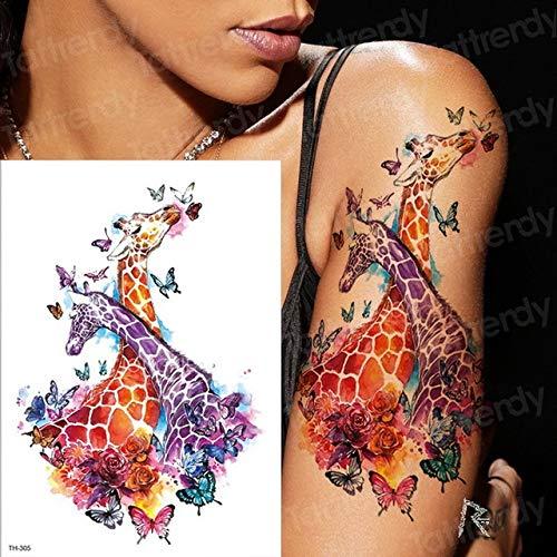 Handaxian 3pcs Mädchen Bunte Schlange Schmetterling Arm Tattoo Löwenzahn Körper zurück Tattoo 3pcs-7 -