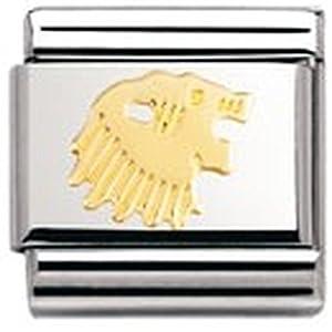 Nomination Composable Classic Sternzeichen Edelstahl und 18K-Gold (Lowe) 030104