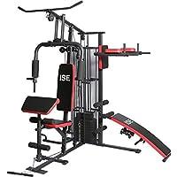 ISE Station de Musculation/Appareil de Musculation Fitness Multifonction Home Gym Complet avec Poids,Entraînement de…