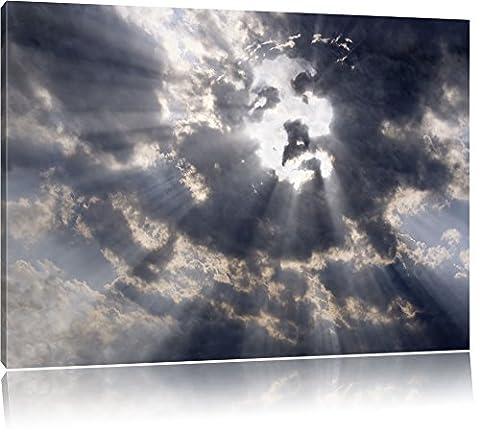 Le visage de Jésus dans le ciel, format: 120x80 sur toile, XXL énormes Photos complètement encadrée avec civière, impression d'art sur murale avec cadre, moins cher que la peinture ou une peinture à l'huile, pas une affiche ou une bannière,