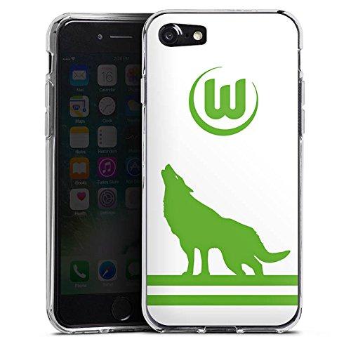 Apple iPhone X Silikon Hülle Case Schutzhülle Vfl Wolfsburg Fanartikel Wölfe Fußball Silikon Case transparent