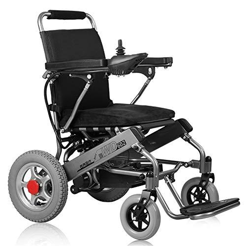 Elektrorollstuhl Zusammenklappbarer tragbarer elektrischer intelligenter automatischer Rollstuhl, elektrischer oder manueller Betrieb, for Senioren und Behinderte geeignet, 20A Lithiumbatterie