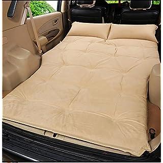 Lameila Auto Outdoor-Reisen Bett Luftmatratze Matratze hinten SUV-Auto,Einschließlich Einer Saugpumpe, beige Suede 5cm