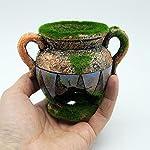 Dimart Simulation Resin Vase with Moss Aquarium Decorations Fish Tank Landscape Ornament 8