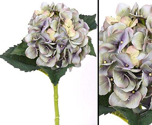 Kunstblume Hortensie, mit hellblauer Blüte Durch. 15cm, wasserfesten Stiel, Länge 48cm - Kunsblumen künstliche Blumen Kunstpflanzen künstliche Pflanzen Blumen