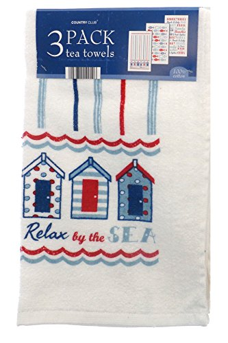Country Club Catch of the Day Tea Towels, Set of 3