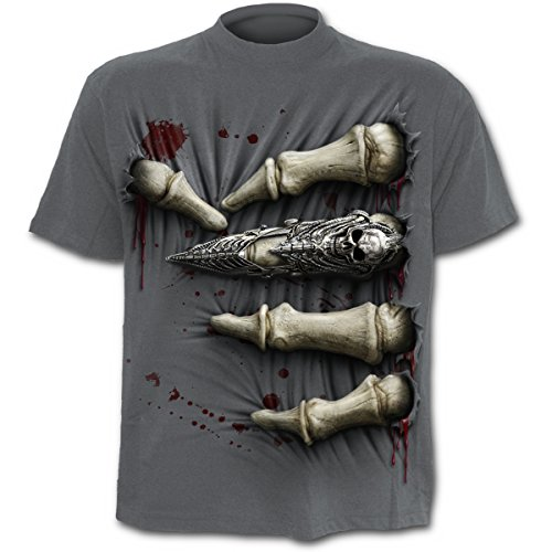 Spiral Death Grip Camiseta Gris L
