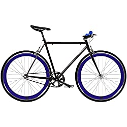 Bicicleta FIX 2 azul. Monomarcha fixie / single speed. Talla 53…
