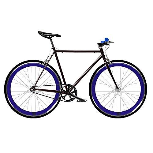 Mowheel FIX 2 Bicicletta blu,Monomarcia, a scatto fisso, trasmissione single speed.taglia 53
