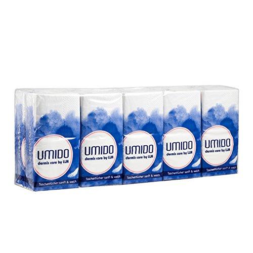 UMIDO Taschentücher SANFT & WEICH - Papiertücher 4-lagig - 10 Tissues pro Päckchen - Pflegetücher - 10 Päckchen (4.)
