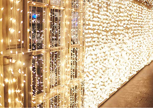 600 LED 6M x 3M IDESION Tenda Luminosa Natale Impermeabile IP44 Tenda Luci Natale 8...