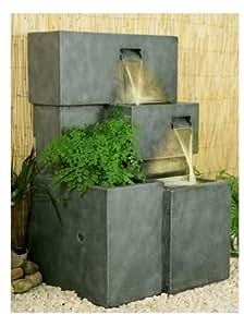 Fontaine d'Extérieur Cascade Jardinière avec Lumières