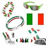 Piersando® Fan Set Fussball WM & EM Fanartikel Italien