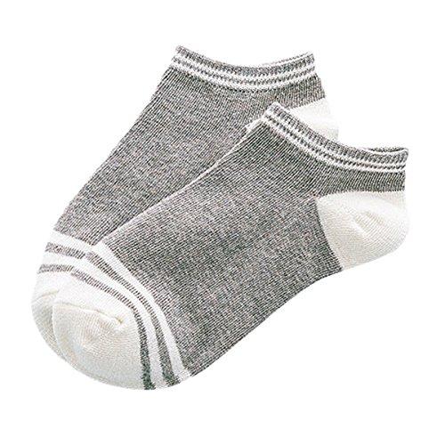TININNA Lot de 5 paires Chaussettes Coton Basse Socquettes Sport Pour Femmes Fille Gris