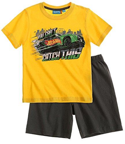 hot-wheels-boys-short-sleeve-pyjama-2016-collection-yellow