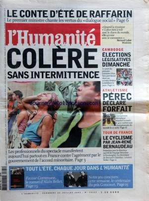 HUMANITE (L') [No 18333] du 25/07/2003