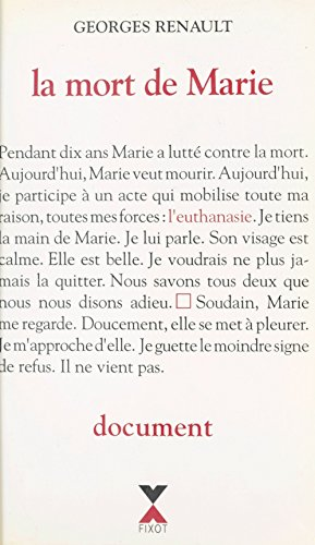 La mort de Marie : document