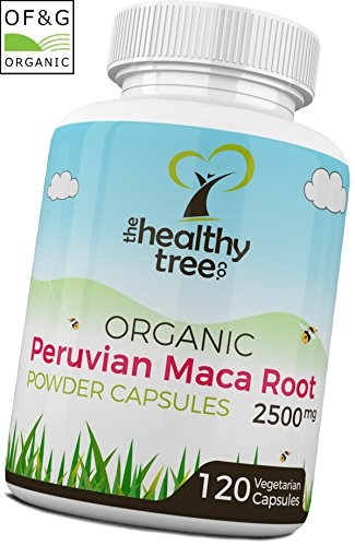 Maca Kapseln BIO 2500mg - Vitamin B1, B2, B6, Kalzium, Eisen und Zink - organisch zertifiziert Maca Pulver Kapseln von TheHealthyTree Company