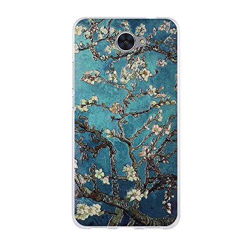 Huawei Y7 Hülle, FUBAODA, 3D Reliefmalerei[Elegante Blume] Hochwertigem Stoßfest, Kratzfest, Ultra Dünn Schutztasche Hülle für Huawei Y7 (5.5