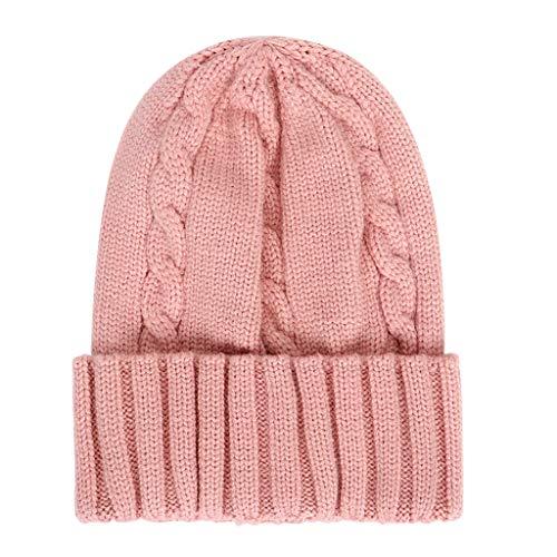 Baby gestrickte Beanie Mütze Mütze warme Winter Schnee Ski Cap weiche bequeme Zopfmuster Beanie Mütze Manschetten Ohrenschützer Hut