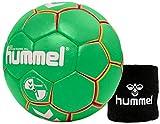 Hummel Kinder Handball Kids 091792 Größe 00/0/1 im Set mit Schweißband Old School Small Wristband 99015 (schwarz) (Green/Yellow (5307), 00)