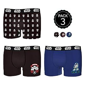 Star Wars Set de 3 Boxers Infantil 35% algodón / 65% poliéster – diseños Variados : Escoge tu Talla