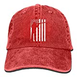 Sports Shooting Flag Denim Hat Adjustable Men's Fitted Baseball Caps