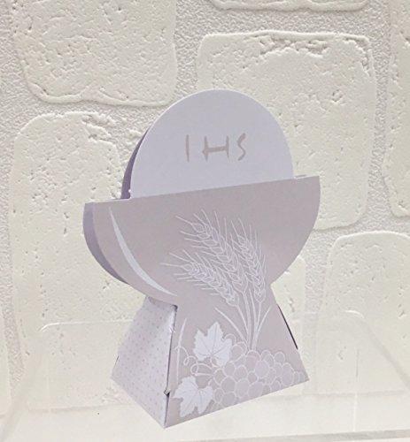 20 pezzi portaconfetti calice comunione scatolina in carta bomboniera