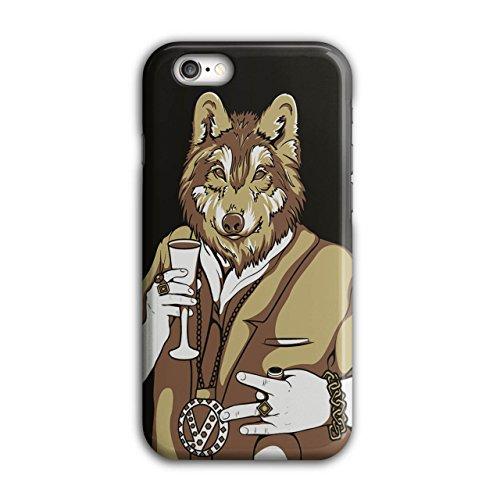 Wolf Mensch Mafia Gangster Bling Maske iPhone 6 / 6S Hülle   Wellcoda (Wenig Wolf Kostüme)