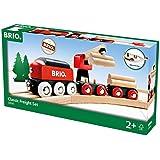 BRIO® Bahn 33010 - BRIO Fracht Set Classic Line, 18 Teile