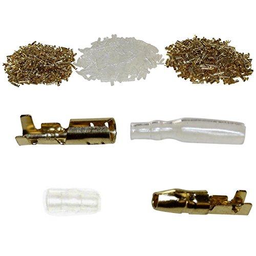 100x Japanstecker Rundstecker Set für Kabelquerschnitt 0,5-2,0mm² inkl. Hülsen und Isolierung (Blinker Stecker)