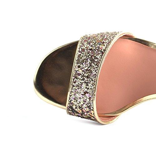 c8e830a532ecfe Ash Schuhe Opium Gold Sandalen aus Leder Damen Gold -hc-friseure.de