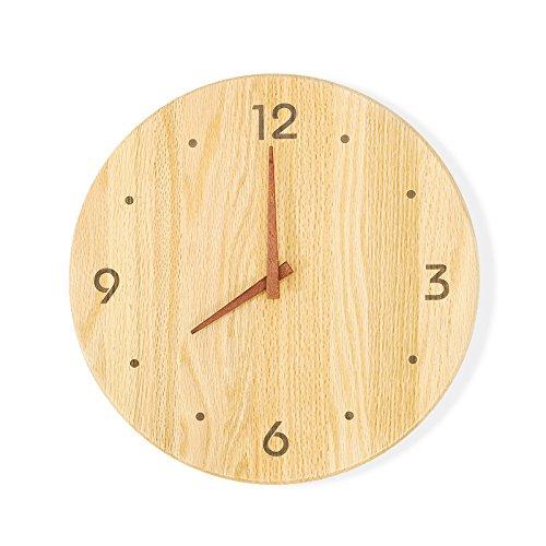 ASL Massivholz Wanduhr, Uhr Wand Diagramme Kreatives Modernes einfaches Wohnzimmer Schlafzimmer Log Qualität Ultra Mute Durchmesser: 30 / 35cm Neu ( größe : 35cm ) (Asl-diagramm)