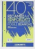 Blasetti 2339 - Ricambi A4 Rinforzati con banda laterale, fogli bianchi, 80grammi