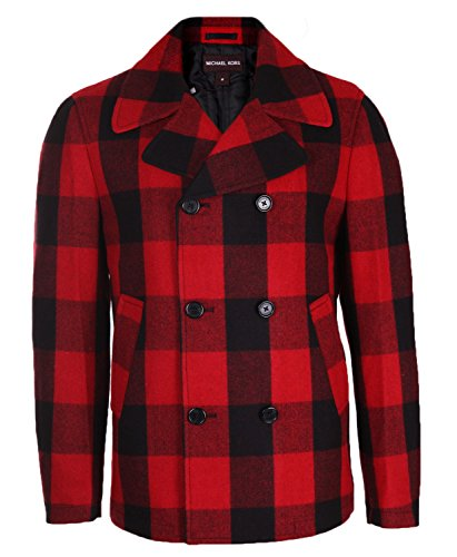 Michael Kors Herren Jacke Rot-Schwarz Coat Jacket Crimson CF22A94WW3, Size:XL