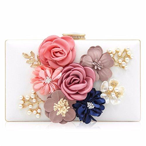 Yueling Damen Clutch Bag Damen Schwarz Abendtaschen Damen Royal Blue Day Clutches Geldbörsen Female Pink Wedding Bag White (Royal Blue Und White Wedding)